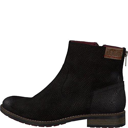 s.Oliver Damenschuhe 5-5-25399-37 Damen Stiefel, Boots, Stiefeletten Black Snake