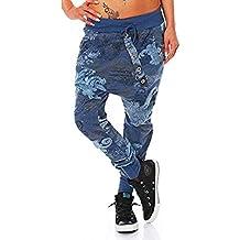 8329b69b6b beautyjourney Pantalones de impresión de pulpo de gran tamaño para mujeres  y hombres Pantalones casuales flojos