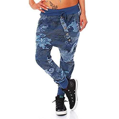beautyjourney Pantalones de impresión de pulpo de gran tamaño para mujeres  y hombres Pantalones casuales flojos d515624409c