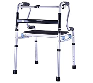 MYT Frame Walker Height Adjustable Folding Walker Aluminum Alloy Pulley Elderly People Disabled Person Walking Rehabilitation Equipment Bathroom Bath Chair