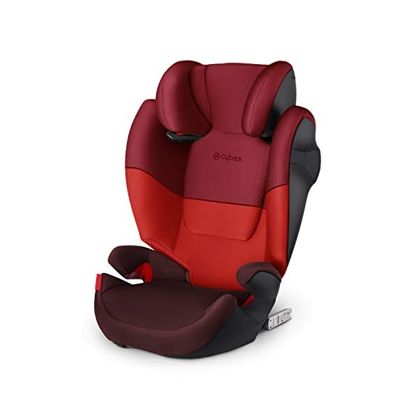 CYBEX Silver Solution M-Fix Child's Car Seat, For Cars with and without ISOFIX, Group 2/3 (15-36 kg), From approx. 3 to approx. 12 years, Rumba Red Cybex  1