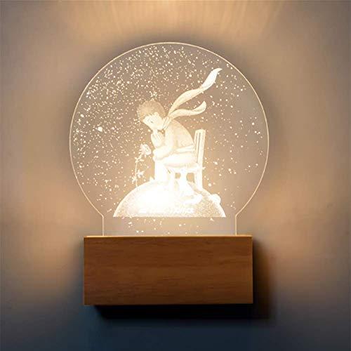 GXFXLP Mondlicht, Mond Schlafzimmer Wandleuchte Moderne einfache 3D Geschnitzte LED Gang Korridor Licht schlank dekoratives Licht,Prince -