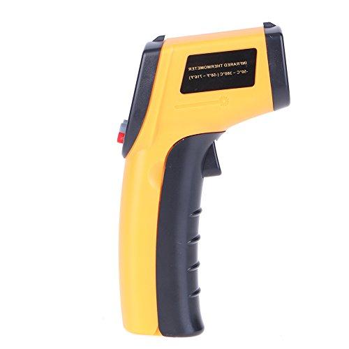 Prettygood7gm320plastica palmare senza contatto a infrarossi termometro digitale ad alta temperatura gun instant read laser da -50°c a 380°c (senza batteria)