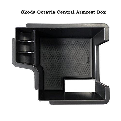 LFOTPP Octavia III 5E (2013-2018) Handschuhfach Armlehne Aufbewahrungsbox Center Console Armrest Storage Box Innen Schwarz (Console Box)