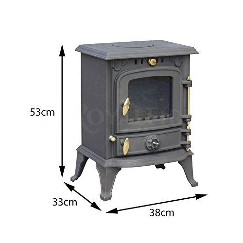 Royal Fire™ - Stufa a legna in ghisa, 5,5 kW, uso con vari ...