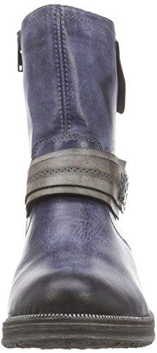 Remonte Dorndorf D1771, Bottes de motard de hauteur moyenne, doublure froide femme Bleu - Blau (jeans/cigar / 14)