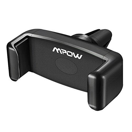 Air Vent Phone Mount, Mpow 360° Swivel Car Mount Premium E-Clip Car Holder for Air Vent One Step Mounting iPhone Holder for iPhone 7 7 Plus 6S 5S Samsung S8 S7 Note 5 LG Huawei and Other Smartphone