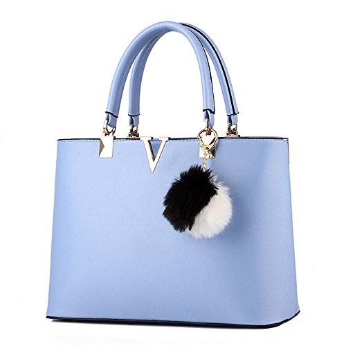 Wewod, Borsetta da polso donna Multicolore Multicolore 33mx12cmx22cm, Blu marino (Multicolore) - JX-ap89 blu chiaro