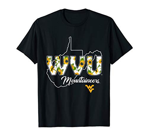 West Virginia Mountaineers Patterned Letters T-Shirt -