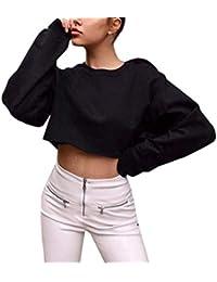 Yesmile Mujer Camisetas❤️Las Mujeres Camisa Moda Casual Womens Manga Larga Camiseta Suelta Camiseta Blusa
