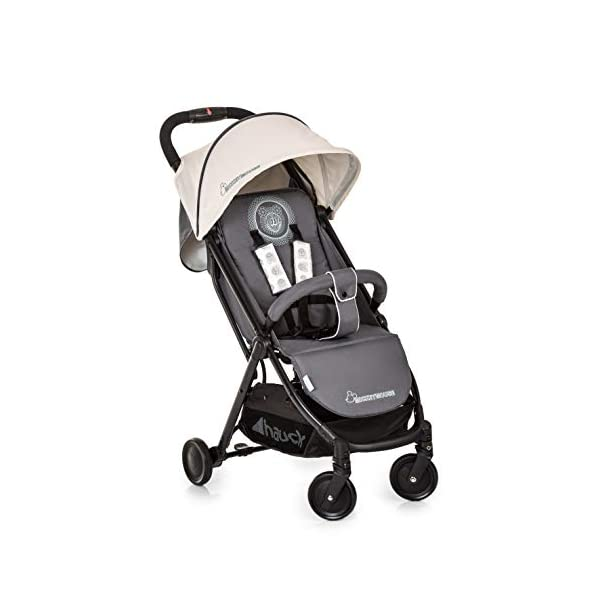 Hauck Swift Plus, Compact Pushchair with Lying Position, Extra Small Folding, One Hand Fold, Lightweight, Carrying Strap, from Birth Up To 15 kg, Mickey Cool Vibes Hauck Ultra compact fold. folds down to just 61 x 46 x 29cm, and the convenient carry strap makes it easy to carry around. One hand fold. the simple folding action can be operated with one hand, and putting it back up again can be done with just the flick of the wrist. Suitable from birth. the lie flat position means the pushchair is suitable to use straight away, with a large lying area of 85 x 33 cm 1