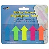 Tiger adhesive sticky arrow highlighter tabs/flags for revision/research