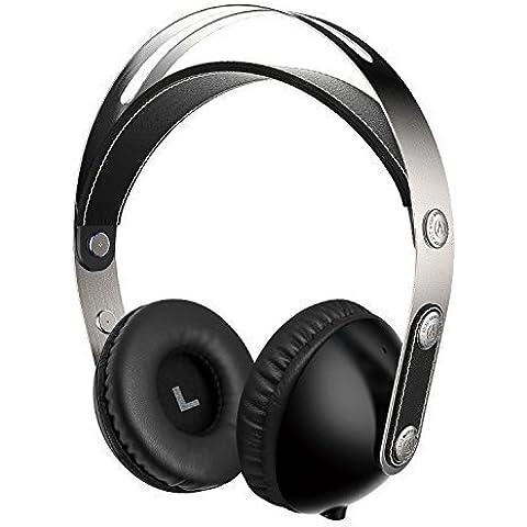 Sonido Intone 2015 recién WZ-01 Music Hi-Fi Auriculares estéreo para niños o adultos Fácil almacenamiento desmontable con 3,5 mm Cable de audio, ligero y portátil con sonido HD, compatible con el iPad, el iPhone, Samsung, PC, ordenador portátil (Negro)