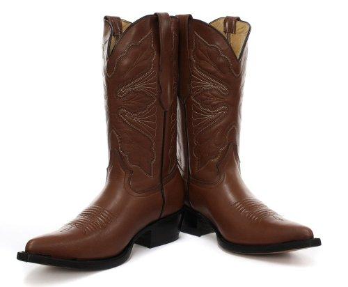 Grinders Dallas Femme Cowboy Bottes, Beige Cajeta/Tan