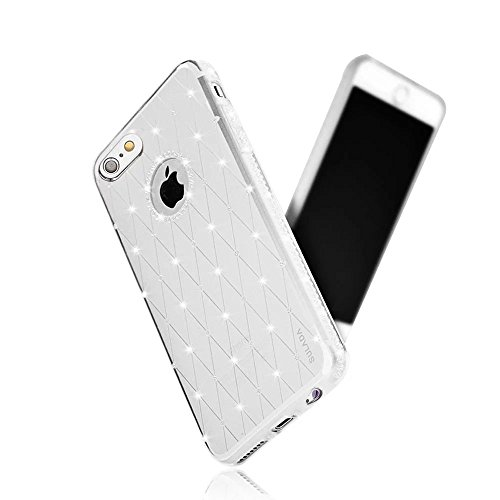 MOMDAD iPhone 6S PLUS Case Cover per iPhone 6S Plus / iPhone 6 Plus 5.5 Pollice TPU Gel Silicone Custodia Trasparente Cristallo Chiaro Bumper Soft Custodia Diamant-argento