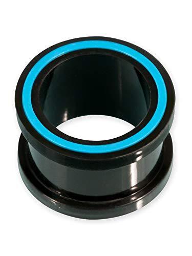 Fly Style Flesh-Tunnel Silikon Hollow Eye in 8 Farben, Grösse:14 mm, Farbwahl:blau