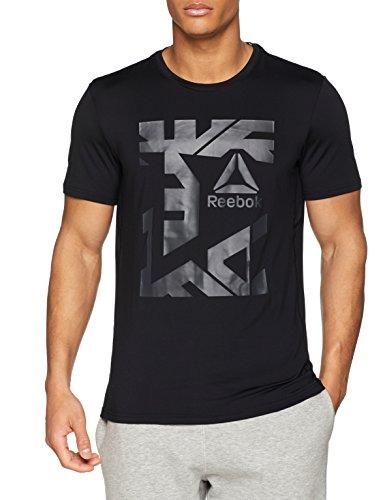 Reebok Herren Workout Ready Graphic T-Shirt, Black, M - Summer Graphic T-shirt