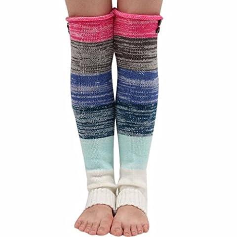 Internet 2016 Automne-hiver Femmes Crochet tricot bas jambières couvrent bottes