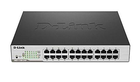 D-Link DGS-1100-24P Gigabit Smart Switch (24-Port) schwarz/grau