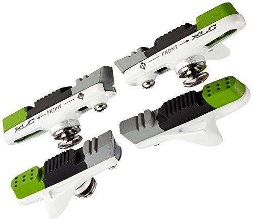 XLC Bremsschuhe Cartridge Road BS-R05 4er Set 55 mm, weiß Preisvergleich
