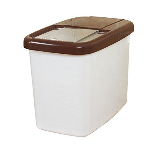 Hoomall 1PC Boîte de Conservation Hermétique Alimentaire Frande Capacité 10KG Stockage pr Légumes Farine Riz Plastique Cafe