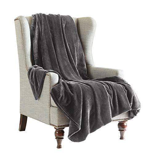 SCM Kuscheldecke XL Grau Wohndecke Tagesdecke Decke Flauschig Weich und Angenehm Warm Überwurf Sofadecke mit Premium Cashmere Feeling, 150x200cm