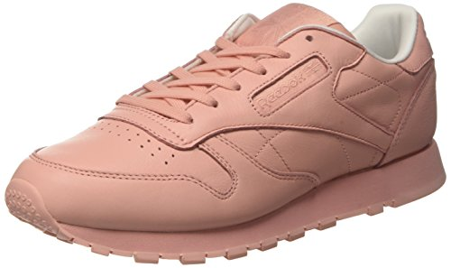 Reebok Damen Cl Lthr Pastels Laufschuhe, Pink (Patina Pink/White), 40.5 EU - Reebok Lauflernschuhe