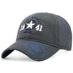 Idea Regalo - sdssup Cappellino da Baseball Berretto da Baseball da Uomo con Cappuccio CA0014 A0014 codice Grigio Scuro (56-61cm) Regolabile