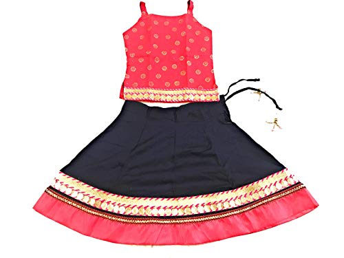 497516424c Anchal Collection Skirt Top for kids girl 100% Cotton heavy border 6  months-6 ...