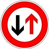 LEMAX® Schild Alu Gegenverkehr Vorrang Verkehrszeichen 208 420mm reflektierend
