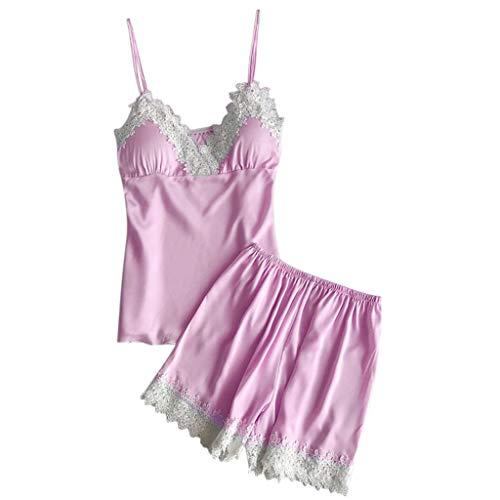 Proumy Conjunto Pijamas Verano Mujer Dos Piezas Pijama
