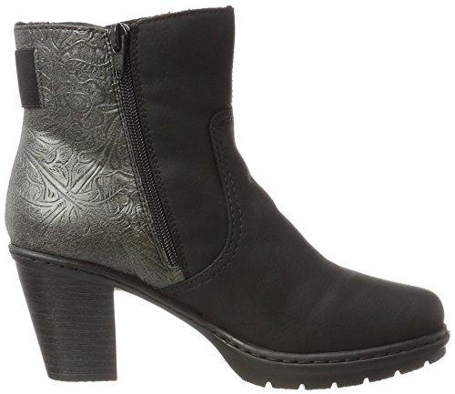 Schwarz Y1560 grigio Noir Bottes Femme Rieker 1IwdZI