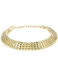 JewelRush Gold Alloy And Stones Choker Necklace For Women