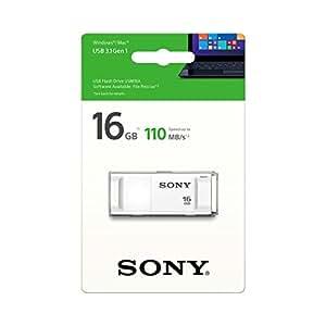 Sony USM16X/W 16GB USB 3.1 Gen 1 Pen Drive (White)