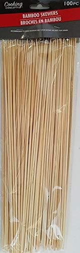 Cooking Concepts Grillspieße aus Bambus, 30,5 x 0,8 cm, rund, 100 Stück
