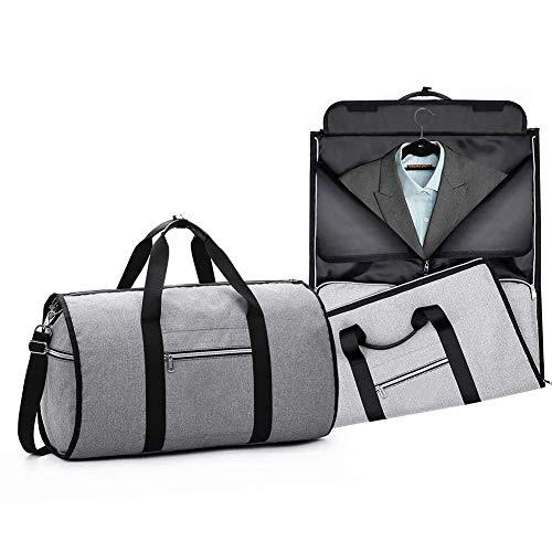 PUDDINGHH® Anzug Carry On Travel-Kleidersack, 2 in 1 Cabrio-Kleidersack, über Nacht Weekend Flight Bag mit Abnehmbarem Schultergurt für Geschäftsreisen,Red