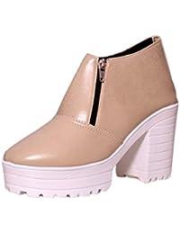 Q'BA BOOTS Women's Black Leather Boots