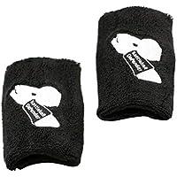 Baoblaze 1 Par Negro Atletismo Kettlebell Protectores de Muñeca Defensor Abrazadera Abrigo