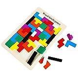 Naisicatar Tetris Puzzle énigmes Jouets en Bois en Bois Box Jeux Puzzle Casse-Bois...