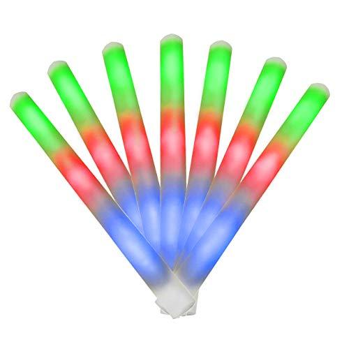 EUTOPICA 100 LED-Stöcke aus Schaumstoff - LED Foam Sticks - Leuchtsticks für Party