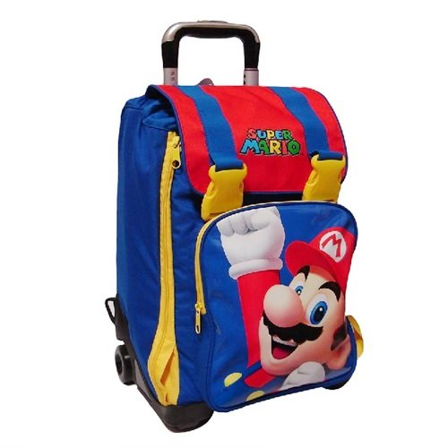 ZAINO ESTENSIBILE CON TROLLEY SUPER MARIO KIDS '14