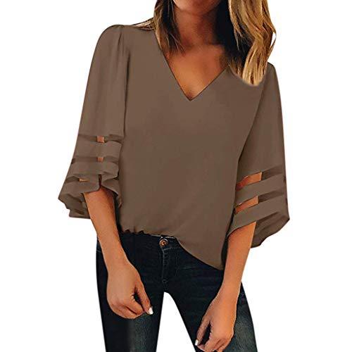 5d2b549c9ac Toamen Womens Shirt Tops Sale 2019 Newest Ladies Button V Neck Long Sleve  Casual Roll-up Plaid Tunic Blouse T-Shirt (Plaid Black 2, 10)