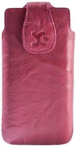 Suncase Original Echt Ledertasche für Samsung Galaxy S4 i9500 (i9505 LTE Version) wash-pink