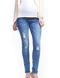 Luz Vintage maternidad Jeans pantalones de embarazo