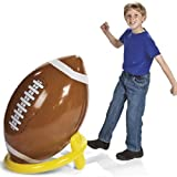 Jumbo Giant Inflatable 4ft Football With Tee by Fun Express