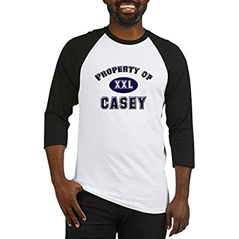 CafePress - Property Of Casey - Cotton Baseball Jersey, 3/4