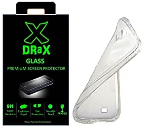DRaX™ Samsung Galaxy A3 TPU Transparent Back Cover + Tempered Glass COMBO