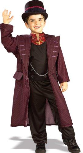 Willy Wonka - Charlie und die Schokoladenfabrik - Kinder- Kostüm - Small - (Wonka Outfit Willy)