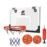 Cyfie Mini Panier Basket Interieur avec 2 Mini Basket-Ball Pompe pour Adulte Bureau Jeux Sport Basketball Loisir Chambre Enfant Salon - 45x30cm