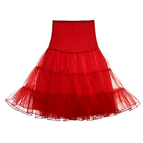 Plus Größe Jahre 50er Kostüm - FeelinGirl 50er Jahre Petticoat Vintage Retro Reifrock Petticoat Unterrock für Wedding bridal Petticoat Rockabilly Kleid in Mehreren Farben